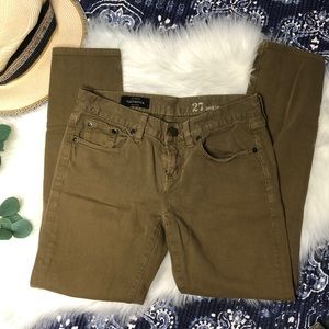 (J Crew) Toothpick Ankle Jeans